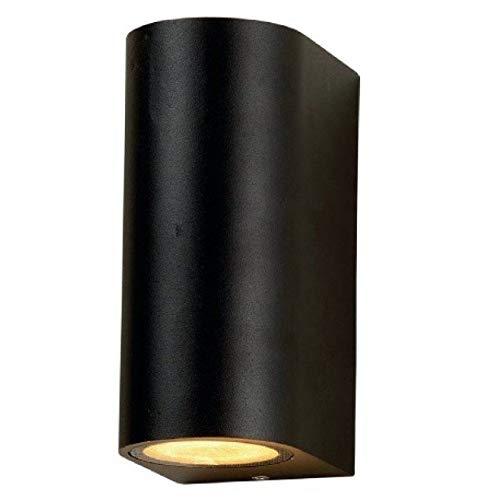 Wandlamp GU10 buis zwart Iglux 10016-N IP 44 60o aluminium glas 68 x 150 x 92