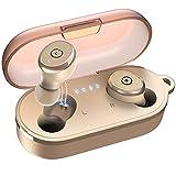 TOZO T10 Auriculares Bluetooth IPX8 Impermeable Bluetooth 5.0 In Ear inalámbricos con Estuche de Carga y micrófono, Sonido Premium con Graves Profundos para Correr y Hacer Deporte Caqui