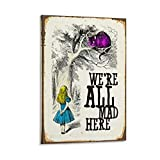 The Shizzle Print Co Alice im Wunderland Zitat