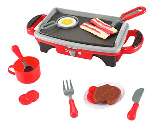 Liberty Imports Kitchen Set Breakfast Griddle Electric Stove Play Food Grill Kids