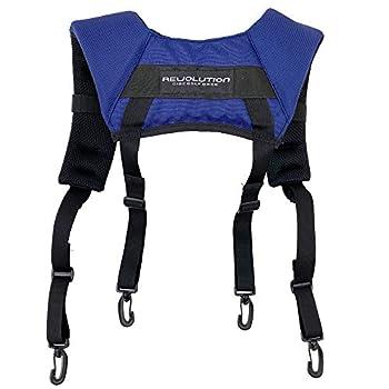 Revolution Disc Golf Harness Premium Backpack-Style Disc Golf Bag Strap - Navy Blue