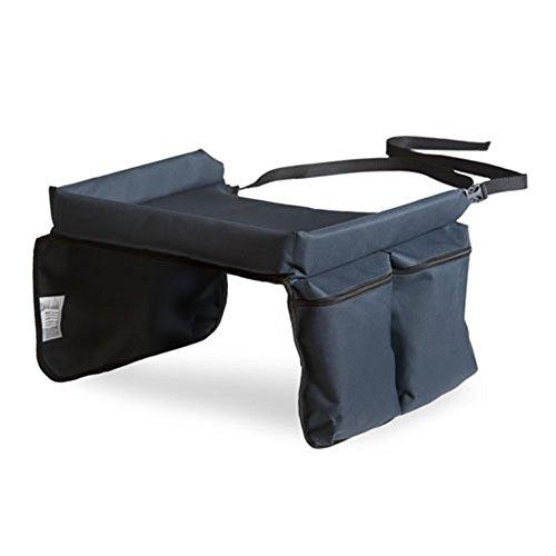 Hauck Play on Me Spieltisch für Autositz, Reise-Tablett zum Spielen für Kinderautositze, Klapptisch für das Auto, Zubehör für Auto-Babysitze der Gruppe I, grau