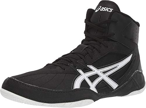 ASICS Men's Matcontrol Wrestling Shoes, 10, Black/White