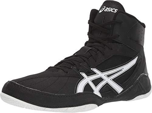 ASICS Men's Matcontrol Wrestling Shoes, 10.5, Black/White