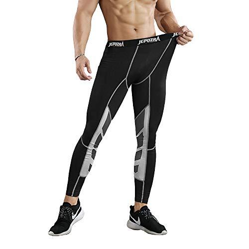 Pantalones de Compresion Hombre Deporte Mallas Running de Secado Rápido,Hombres Corriendo Pantalones de Ciclismo,Leggings cómodos Base Fitness Pantalones térmica,Compresión Mallas de Fitness Yoga
