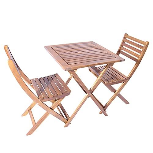 Juego de Muebles de Jardín de Madera Combinación de Mesa y Silla Plegable de 5 Piezas Gran Capacidad de Carga Adecuado para Jardines Terrazas y Balcones