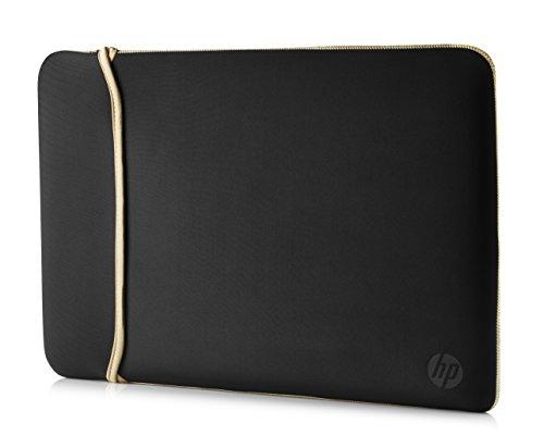 "HP Custodia Sleeve Reversibile in Neoprene per Notebook fino a 14"", Nero/Oro"