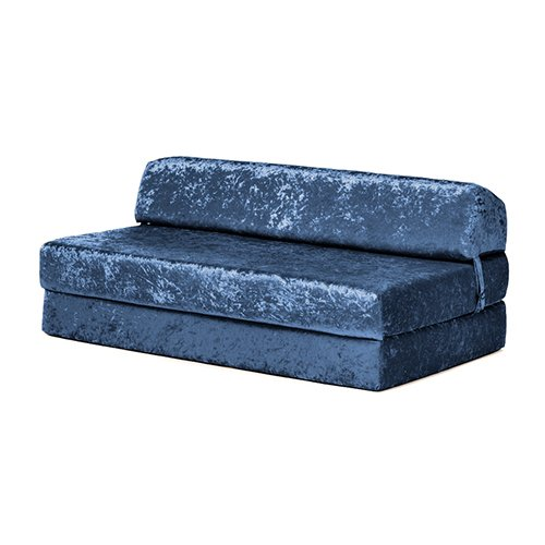 Changing Sofas Fold Out Double Z Sofa Bed Mattress | Comfortable & Soft Seat | Living Guest Rooms & Bedrooms | Home Crushed Velvet Furniture (Dusk)