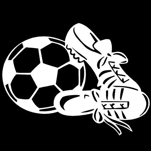 dljztrade Reflecterende Sticker Die Gesneden Decoratie Decal Auto Styling Sport Voetbal Sneaker Kleur: wit