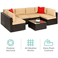 7-Piece Best Choice Products Modular Outdoor Patio Furniture Set