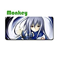 Monkey Angel Beats! 大判マウスパッド パソコン ゲーム マウスパッド Wolf マウス 周辺機器 アニメ漫画 ゲーム マウスパッド キーボードパッド 防水 滑り止め ゲーム用 おしゃれ 萌え かわいい グッズ (90cmX44cm)