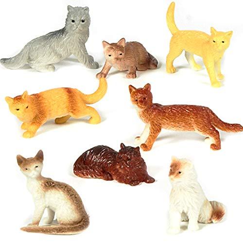 U.S. Toy Assorted Plastic 2' Cat Figure Toys (12)