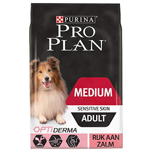 Pro Plan Hond Medium Adult Sensitive Skin Hondenbrokken met Zalm, 14kg