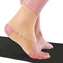 BraceAbility Elastic Ankle Brace | Foot Support Protection Bandage to Prevent Ankle Sprains in Gymnastics, Dance, Tumbling, Yoga, Pilates, Exercise, Running and Sports (XL)