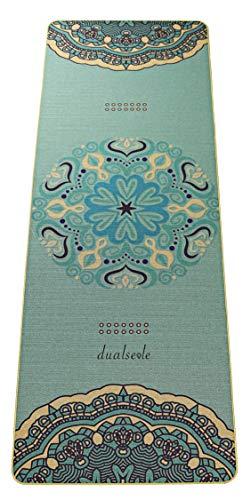 dualseele Eco Yogamatte aus Jute und Naturkautschuk, schadstofffrei, nachhaltige Sportmatte, Jutematte mit Tragegurt, Gymnastikmatte rutschfest, robust, breit und dick (183 x 68 x 0,5 cm)