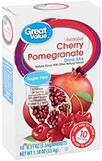 Cherry Pomegranate Antioxidant Drink Mix, Sugar-Free, 0.11 oz, 10 count (Pack of 6)