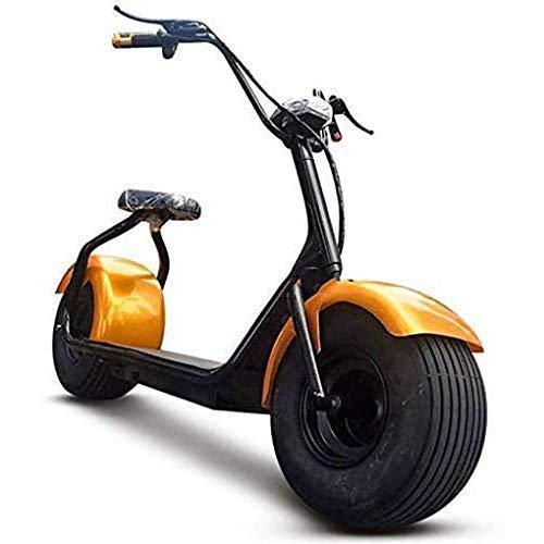 2000W Elektrofahrrad Motorrad, Breitreifen Roller Chopper Elektroauto/Erwachsener Roller/mit Sitz/Meile 40Km für die Schule,AA