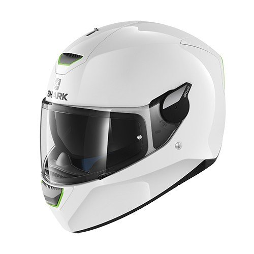 Shark Skwal Blank WHU - Casco de Moto, Color Blanco, Talla S