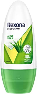 Rexona Aloe Vera Underarm Roll On Deodorant For Women, Antiperspirant, Removes Odour, Keeps Skin Fresh & Clean, Alcohol Fr...