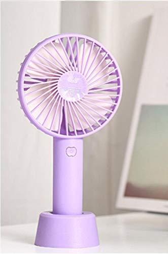 Handheld Small Fan USB Charging Portable Mini Portable Electric Fan Office Mute Desktop Fan,Lavender Purple