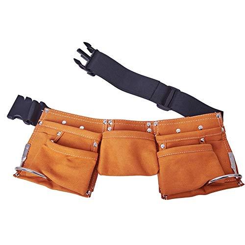 Kinder Werkzeuggürtel Leder Werkzeug Gürtel mit mehreren Taschen, Werkzeugtasche für Gärten