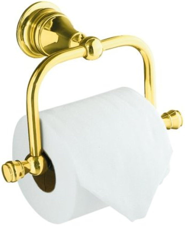 KOHLER K-16141-PB Revival Toilet Tissue Holder, Vibrant Polished Brass