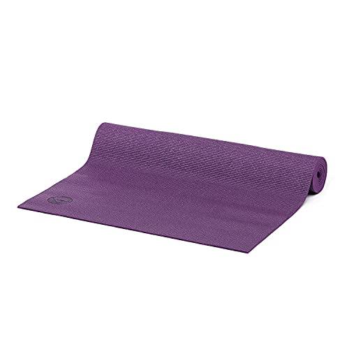Bodhi Yogamatte ASANA aus PVC   Schadstofffrei   Rutschfest & Waschbar   Perfekt für Einsteiger   Übungsmatte für Fitness, Pilates & Gymnastik   183 x 60 x 4 mm   Aubergine