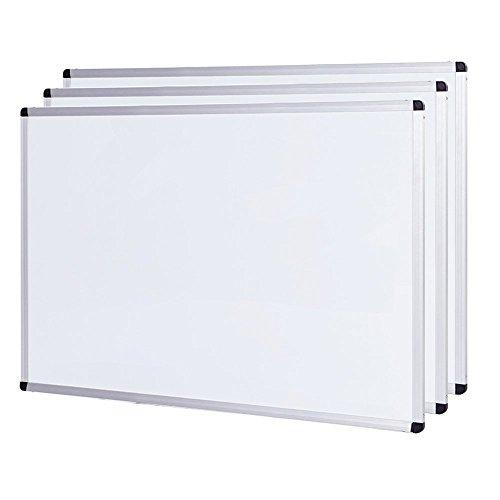 VIZ-PRO 3 Paquetes Pizarra blanca magnética marco