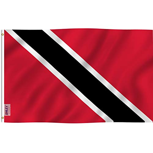 Anley Fly Breeze 3x5 Foot Flag of Trinidad and Tobago - Vivid Color and UV Fade Resistant - Canvas Header and Double Stitched - Trinidad & Tobago Flag Polyester with Brass Grommets 3 X 5 Ft
