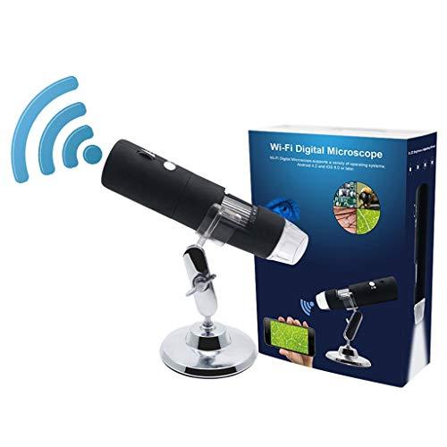 YUXIwang Microscopio 1080 p WIFI Digital 1000x Microscopio Lupa Cámara para Android ios para iPhone para iPad