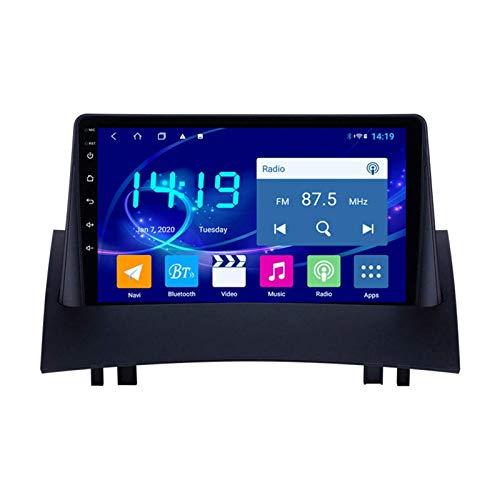 GPS Navigation Car Radio Estéreo para Renault Megane 2 Head Unit Unit SAT NAV Video Video Receptor HD Pantalla táctil Soporte MirrorLink Bluetooth WiFi Player multimedia USB AUX,4 core 4g+wifi: 1+16gb