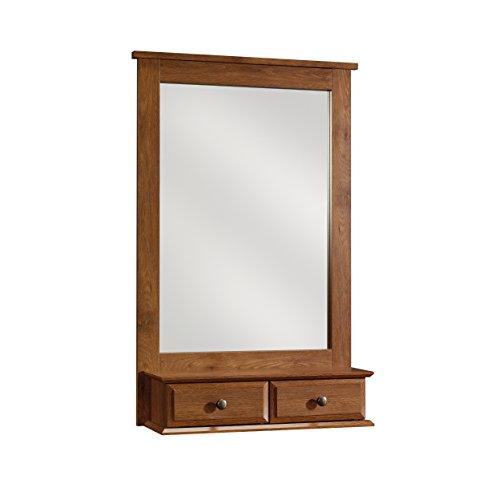 Sauder 410845 Mirror, Oiled Oak Finish