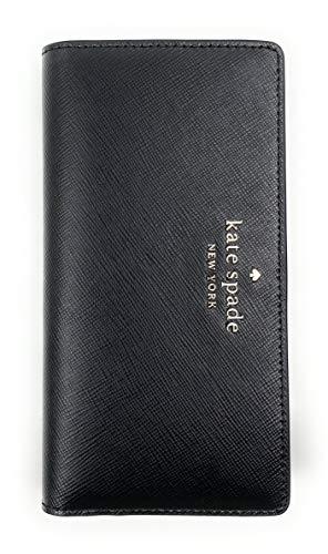 Kate Spade New York Slim Staci Saffiano Leather Bifold Wallet (Black)