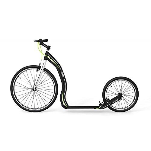 Yedoo Tretroller/Roller TREXX 26/20 Black aus Aluminium super leicht | Sportscooter für jeden Untergrund ab 140 cm Körpergröße bis 190cm Scooter fahrbar bis max 130 Kg Gewicht