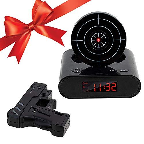 FORNORM Target Alarm Clock Reloj electrónico con Pistola
