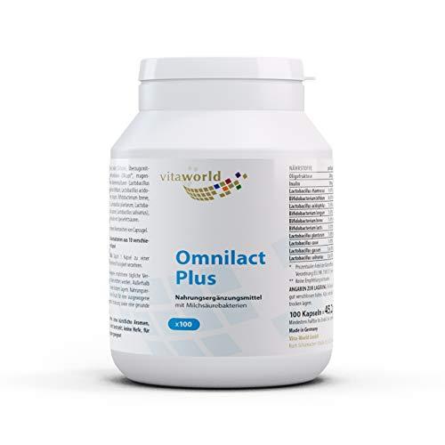 3er Pack Vita World Omnilact plus 300 Kapseln Probiotika Apotheken Herstellung 10 verschiedene Stämme Lactobacillus und Bifidobacterium 5 Milliarden vermehrungsfähige Keime