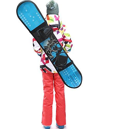 YYST Snowboard Shoulder Strap Snowboard Sleeve Snowboard Carry Strap Snowboard Sling Snowboard Carrier- Universal, Adjustalbe, Fits All Shapes of Snowboards!