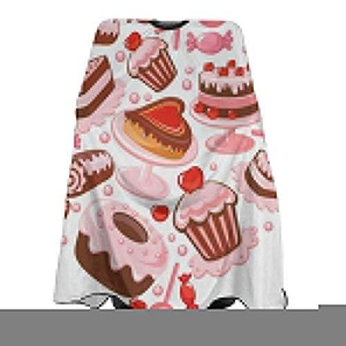 Salon Cape San Valentino Caramel hart van chocolade Ti Amo zomer voorjaar retro haarsnit polyester salon cape schort voor haardroger haar