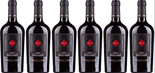 6 er Vorratspaket Zolla Primitivo/Merlot IGP 2018 | Farnese Vini | Rotwein aus Apulien | 6 x 0,75 l