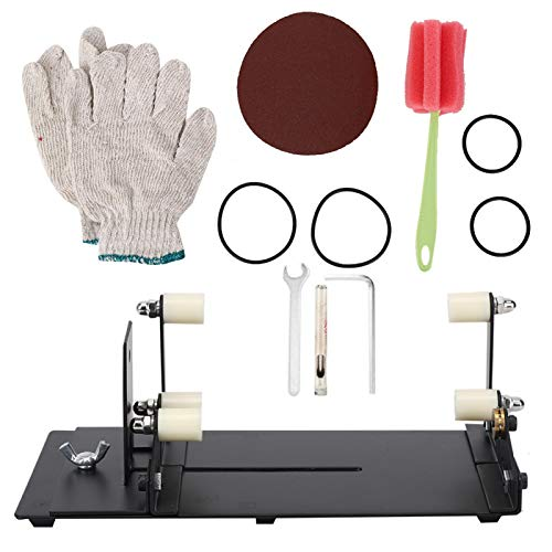 Kit de cortador de botellas de vidrio, herramienta de mano de corte de vino de bricolaje de acero inoxidable Cr, herramienta de mano artesanal de decoración para botella cuadrada y redonda