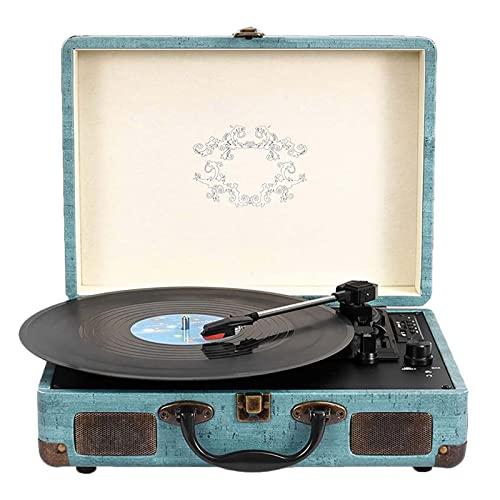 Vintage-Plattenspieler, Tragbarer...