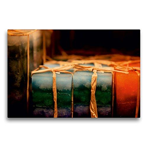 CALVENDO Premium Textil-Leinwand 75 cm x 50 cm quer EIN Motiv aus dem Kalender Christmas Geschichten aus Bremen Weihnachtsmarkt | Wandbild, Bild auf Leinwand, Leinwanddruck Orte Orte