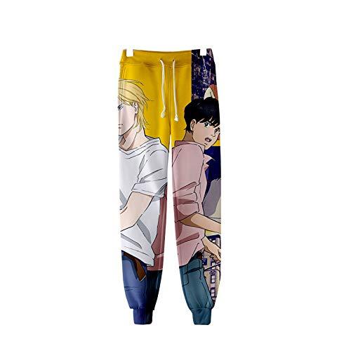 GUJUN Anime Banana Fish - Joggerhose Freizeithose Anime 3D Print Trainingsanzug Unisex Lange Hose mit Kordelzug