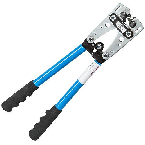 TecTake Crimpzange Kabelschuhzange Crimpwerkzeug Aderendhülsen Zange 0,5-6mm² 6-50mm² - Diverse Modelle - (6-50mm | Nr. 401635)