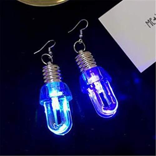 Timesuper LED Earrings Glowing Light Up Bulb Shape Drop Dangle Hook Earrings Party Accessories,U shape