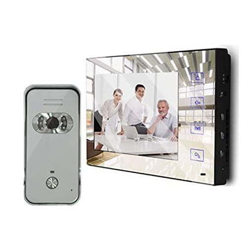 Timbre 7'Color a Todo Color LCD Screel Screen Video Doorbell Security Intercom Door Chime para Villa Home Office Hotel 1V1 Timbre Inalambrico (Color : Set2)