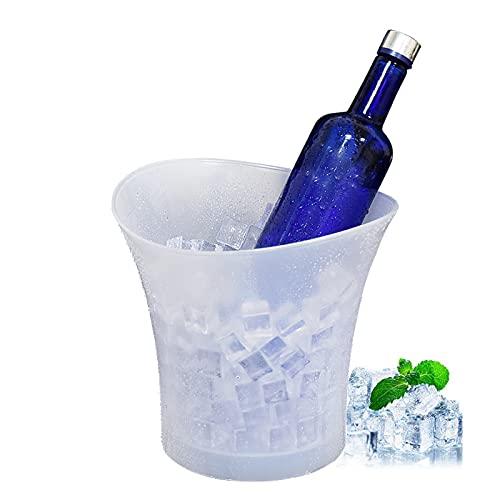 YMXLXL 5L Cubo de Hielo Luminoso - Hielo Cubo de Champán con Luz LED - 25x158x23cm Resistente al Agua y Duradero Cubo de Hielo de Plástico - Cubitera para Champagne Vino(Trae Tu Propia Batería)