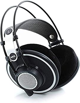 AKG Pro Audio K702 Over-Ear Open-Back Flat-Wire Reference Studio Headphones,Black