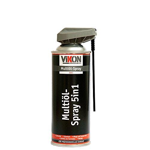 Preisvergleich Produktbild VIKON Multiöl 5in1 Spray 400 ml mit Spezial-Sprühkopf - Schmiermittel,  Rostlöser,  Kontaktspray,  Korrosionsschutz & Reiniger in einem Produkt