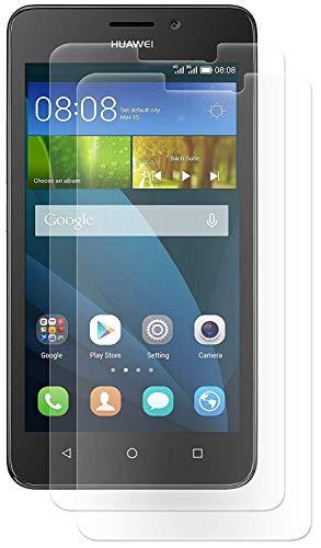 ENERGMiX Bildschirmfolie Schutz Folie kompatibel mit Huawei Y635 Folien (2 Stück) - Ultra Clear